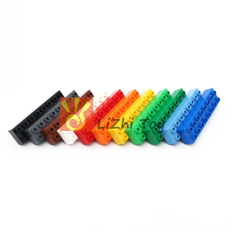 MOC Large Building Block Duplo Brick 4199 2x8 Bricks Big Size Bulk Part Compatible With Duplo Assembles Accessories Children Toy