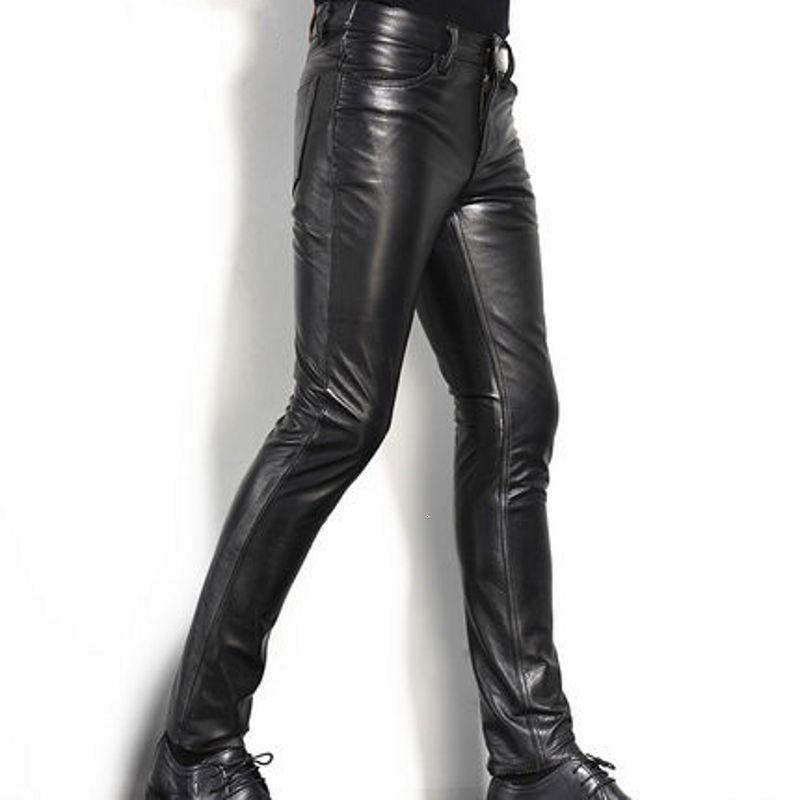 Motero Mens Motorcycle Premium Quality Cow Plain Leather Pants,Trousers,Black