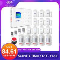 KERUI G18 bezprzewodowy gsm systemy alarmowe bezpieczeństwa domu SIM inteligentny alarm System android ios kontrola aplikacji wykrywacz ruchu czujnik włamywacz