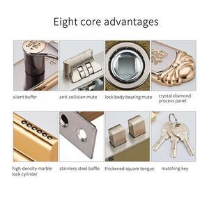 Image 4 - Cerradura inteligente para puerta, manija interior duradera europea, cilindro de cerradura de puerta con llaves, cerradura para manija de puerta