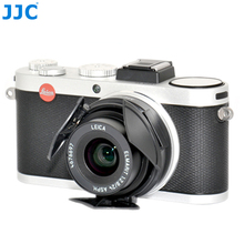JJC Auto Lens Cap for LEICA X1/X2  Black Silver Self Retaining Automatic Open Close Protector