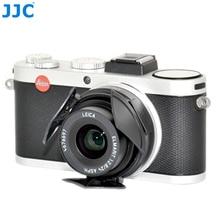 JJC Auto Lens Cap for LEICA X1/X2  Black Silver Self Retaining Automatic Open Close Protector