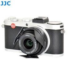JJC Auto Objektiv Kappe für LEICA X1/X2 Schwarz Silber Selbst behalten Automatische Öffnen Schließen Protector