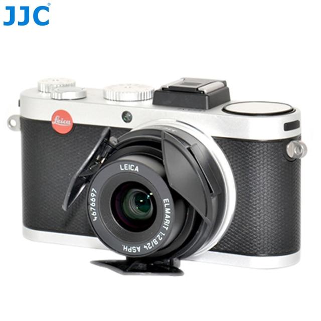 JJC オートレンズキャップライカ X1/X2 黒シルバー自己保持型自動オープンクローズプロテクター