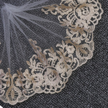 Lace-Fabric Ribbon Sewing Embroidery Applique Guipure Tulle Gold Dress Wedding-Lace 1yards