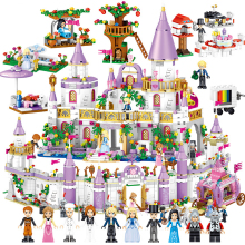 Girls City Princess Villa Windsor Castle House Horse Car Building Blocks Sets Bricks Kids Gift Toys Kits Compatible Friends 34052 house building bricks legocean city streetview villa garden building blocks sets doll model house gifts kids children toys