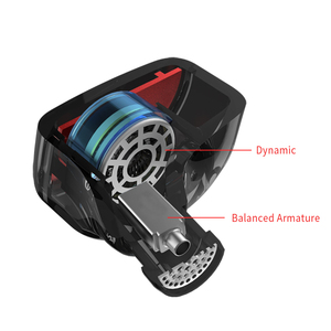 Image 5 - KZ ES4 dans les moniteurs doreille Armature et dynamique casque hybride écouteurs doreille écouteurs HiFi basse suppression de bruit crochets doreille écouteurs
