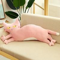long 80cm lovely cat plush toy very soft cotton doll sofa cushion throw pillow birthday gift h1744