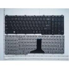 GZEELE teclado ruso para ordenador portátil, para toshiba Satellite C650 C655 C660 C670 L675 L750 L755 L670 L650 L655 L670 L770 L775 L775D RU