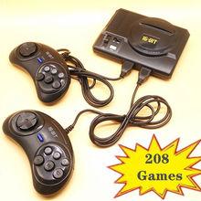 Новинка Ретро Мини ТВ Видео игровая консоль для sega MegaDrive 16 бит игры с 208 различных встроенных игр два геймпада AV Out