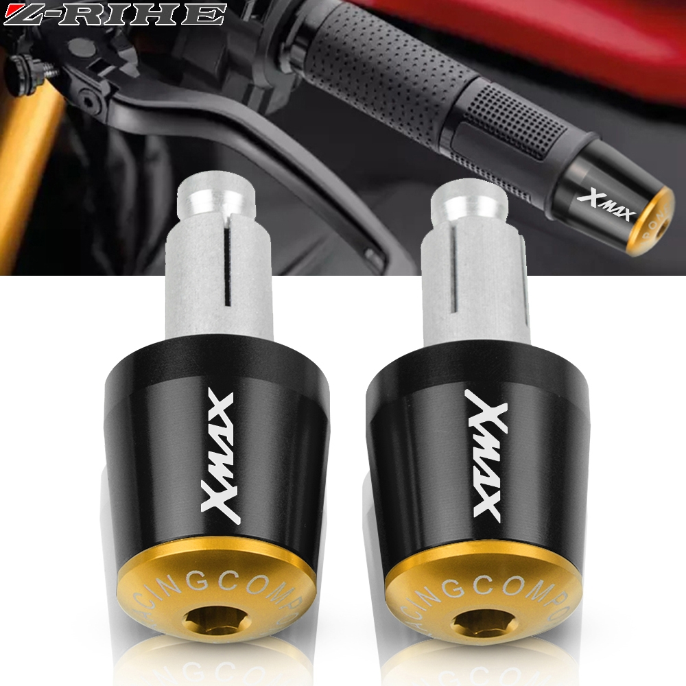 """Motorcycle Accessories for XMAX 7/8"""" 22MM Handlebar Hand Grips Handle Bar End Cap For Yamaha xmax 125 250 300 400 X MAX 2017(China)"""