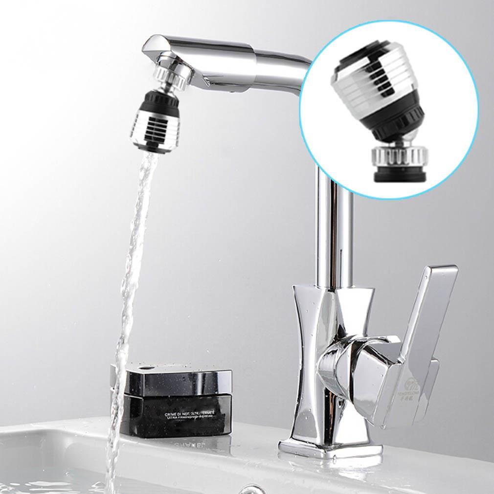 360 Degree Rotatable Water Bubbler Swivel Head Water Saving Faucet Aerator Nozzle Tap Adapter