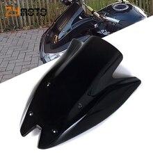 Cam Windscreen çift kabarcık deflector siyah şeffaf renk Kawasaki Z1000 2010 2011 2012 2013 Z 1000