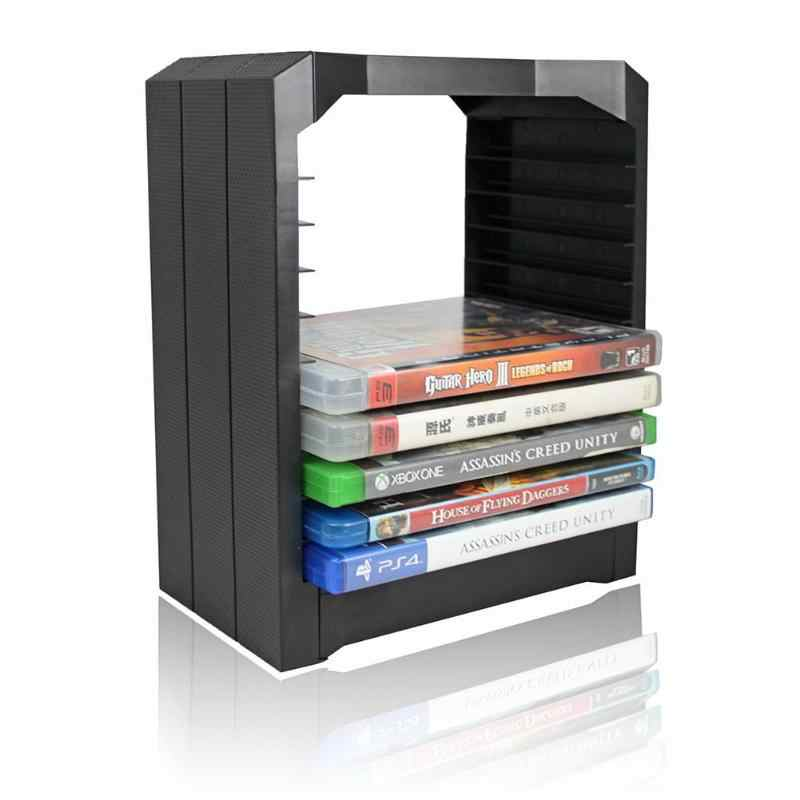 Multifunctional Universal Disk Storage Tower For Games & Blu Ray Discs Holder 10 Game Disks Organizer for Xbox One PS4