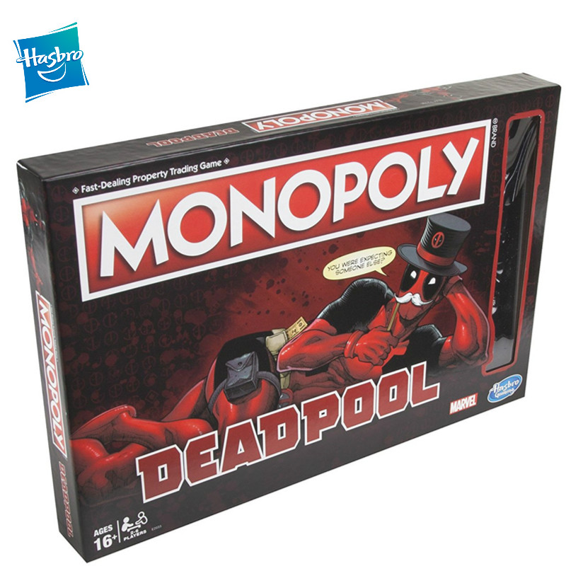 Hasbro Monopoly Marvel Deadpool Wade Winston Wilson Party Games And Puzzles Deadpool Corps Monopoly Puzzle Board Toys