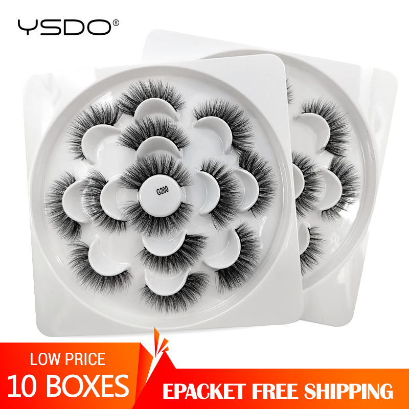 YSDO 10 Lots Mink Eyelashes Wholesale 70 Pairs False Lashes Natural Long 3d Mink Lashes Makeup Fake Eyelashes Maquiagem Cilios