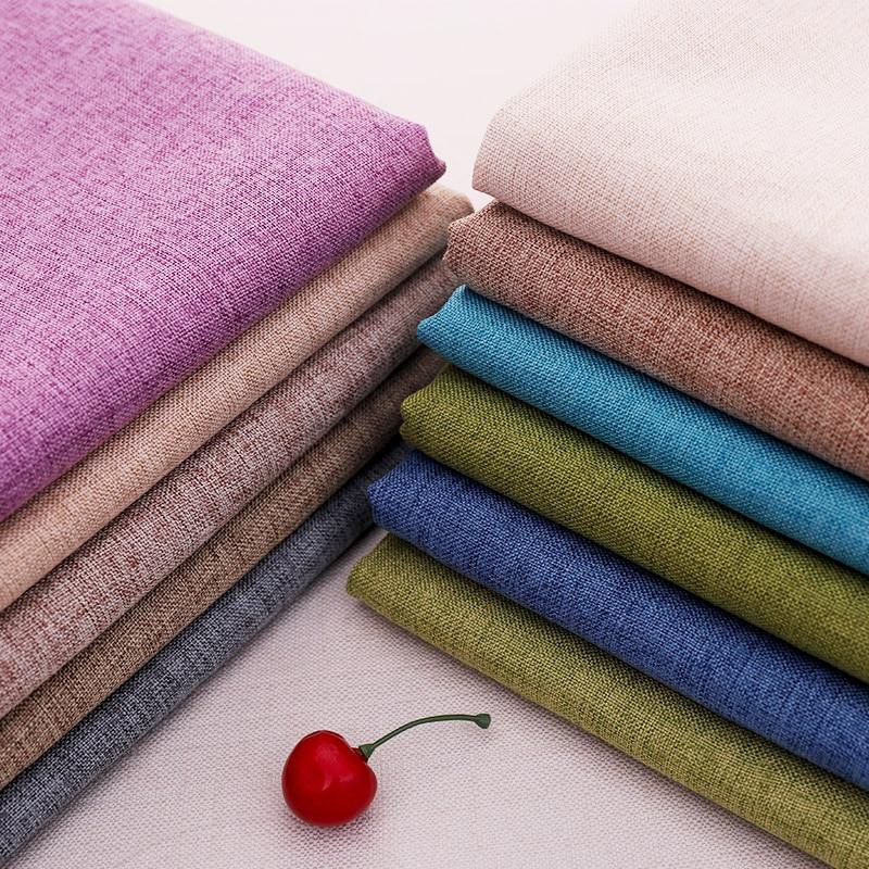 Linen cotton fabric Eco-friendly sewing material plain sofa/curtain fabrics width 150cm