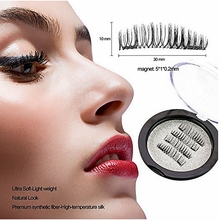 CLOTHOBEAUTY Magnetic Eyelashes with 2 Magnets,Handmade No Glue Full Eye Natural Soft Reusable 3D False Eyelashes for Makeup