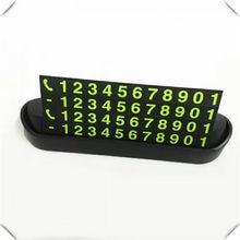 Carte de stationnement temporaire universelle pour voiture, numéro de téléphone de nuit pour Chevrolet Trailblazer Avalanche 34 West upander, Code orangé