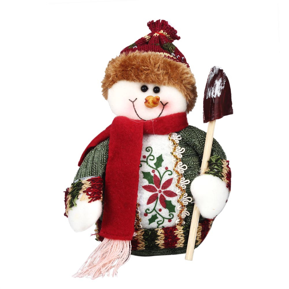 Christmas Decoration Manual Christmas Santa Claus Snowman Christmas Gift Decoration Home Holiday Figurine Winter Country Toy
