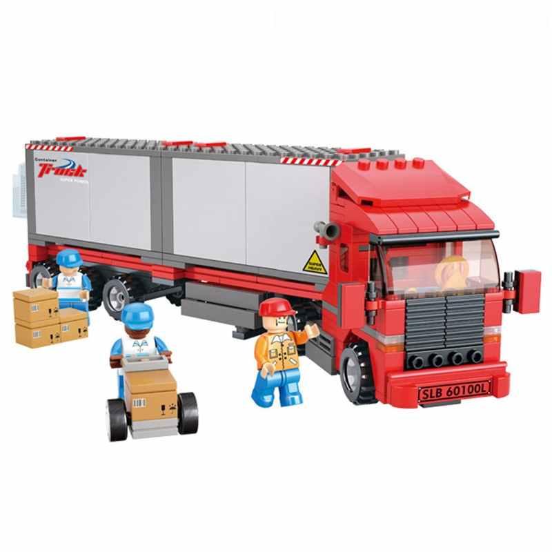 345 шт двойной фургон грузовой автомобиль Совместимость Legoinglys строительные блоки игрушка набор DIY образовательные Дети Рождество подарки на день рождения