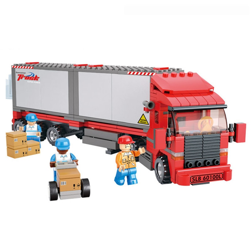 345pcs Double Van Freight Truck Compatible Lepining Building Blocks Toy Kit DIY Educational Children Christmas Birthday Gifts