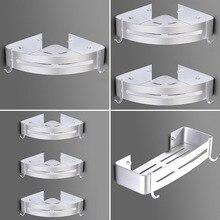 Треугольная корзина для ванной комнаты, дыропробивная стойка для ванной комнаты, алюминиевая настенная вешалка с крюком, угловая полка, вешалка для полотенец