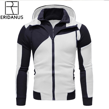 Autumn Winter New Men's Jacket Slim Fit Hooded Zipper Jacket Male Solid Cotton Thick Warm Hoodies Coat Men Clothing Tops MWW166 new fashion brand clothes 2018 winter thick men s hoodies streetwear mens jacket harajuku zipper anime coat male the flash tops