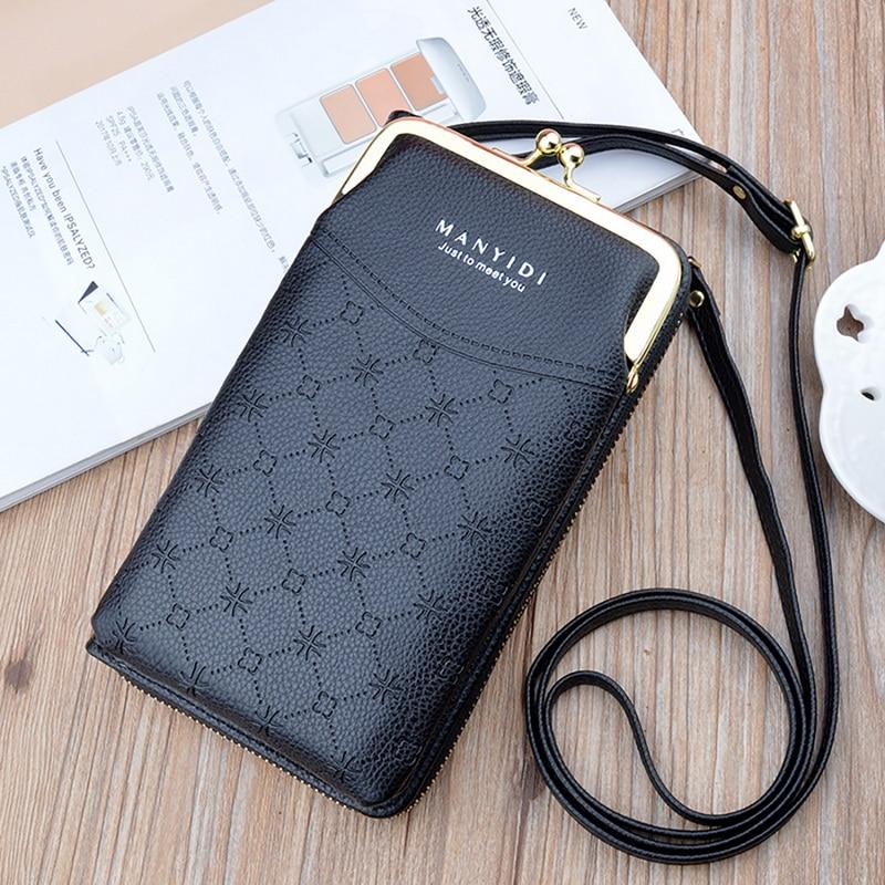 cartão do telefone móvel carteira crossbody bolsos para meninas