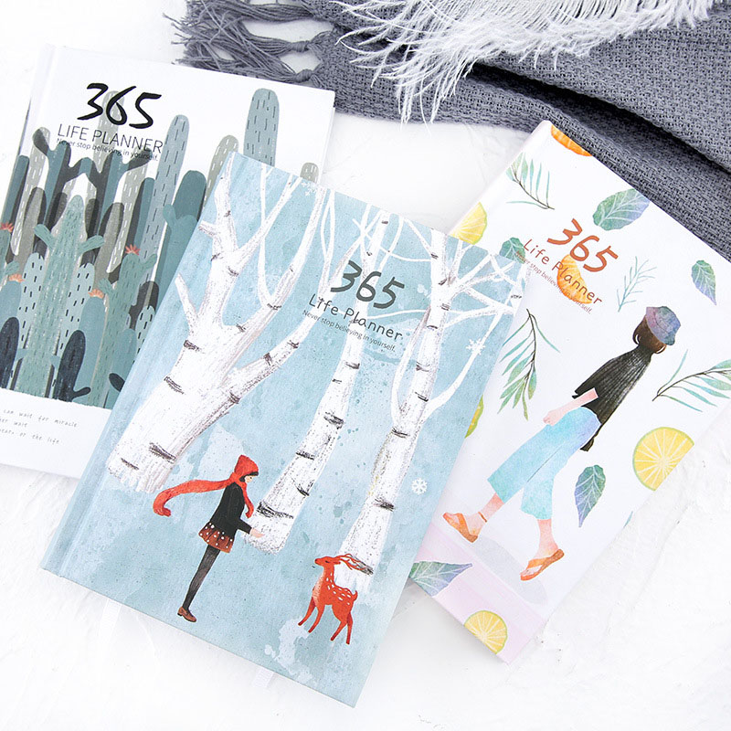 365 Days Cute List Diary NoteBook Planner Colorful Inner Page Notepad Daily Plan Yearly Agenda  School Office Stationry 2