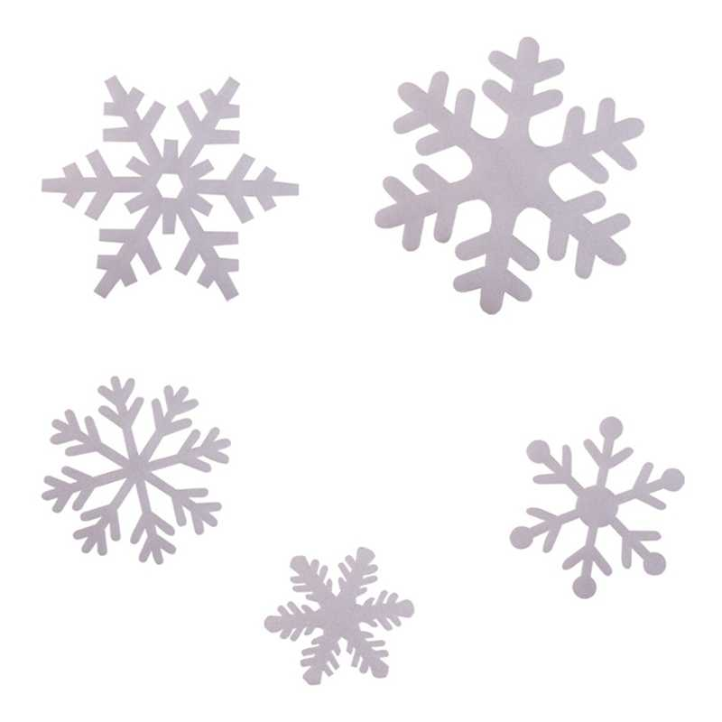 18 шт./упак. изысканный Снежинка для очистки снега, не оставляет хлопья Стекло наклейки окна украшения рождественское вечерние принадлежности для снежной погоды Декор