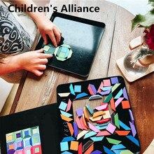 Puzzle magnétique arc en ciel pour enfants, Puzzle en bois Tangram, jouets éducatifs Montessori, jouets dapprentissage pour enfants