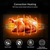 BioloMix 12L 1600W Air friteuse four grille-pain rôtissoire et déshydrateur avec LED écran tactile numérique, 16-en-1 four à poser 3