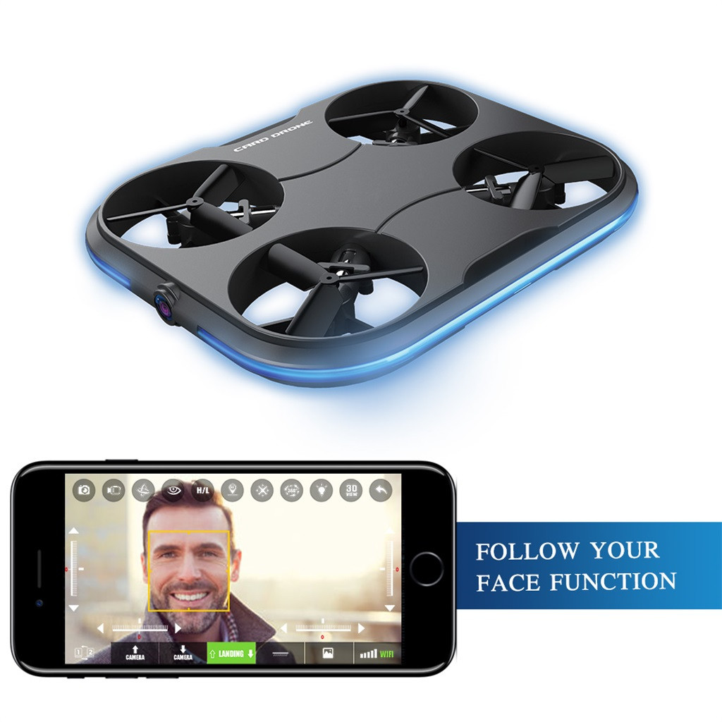 K150 Card Drone 720P WIFI FPV HD Camera Optical Flow RC Quadcopter Kids Toys Gifts