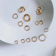 3mm 100pcs/lot 14K Gold Plating Connection Ring Open For Making Diy Jewelry Accessories Golden Colors Single wholesale