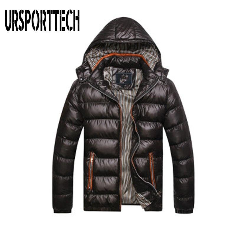 High Quality Winter Jacket Men 2019 Fashion Male Parka Jacket Mens Solid Warm Jackets And Coats Man Winter Parkas Plus Size 5XL