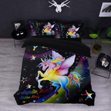 Unicorn Bedding Set Duvet Cover Pillowcase New 3D Cat Printing Bedclothes Decor Comfortable Sets