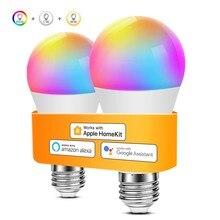 Wifi bulbo trabalhar com apple homekit/dohome app alexa google casa conduziu a lâmpada 110v 220v iluminação casa inteligente