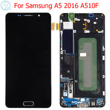 Оригинальный AMOLED для Samsung Galaxy A5 2016 ЖК-дисплей с рамкой 5,2