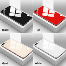 Luxury Tempered Glass Phone Case For iPhone 11 Pro 2019 XS XR Max 8 7 6S Plus Glossy Back TPU Edge Plating  Cover