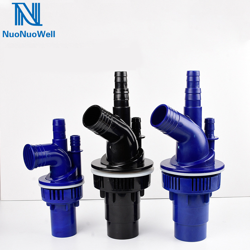 NuoNuoWell Triple Overflow Pipe Fittings Aquarium Bottom Filter Drain Connector 40mm/50mm Outlet Available