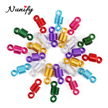 Nunify Hair Clips For Braids Metal Hair Ring Tubes Beads Cuff African Hair Braid Accessories Jewelry Decoration Bead Women Child(China)