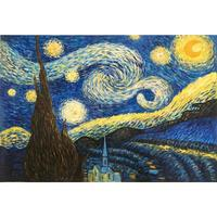 Promotion Wall art Cheap oil paintings hand painted The Starry Night by Vincent Van Gogh painting canvas reproduction home decor
