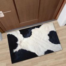 Nordic 3D Printed Animal Fur Floor Mat Entrance Doormat Anti-slip Memory Foam Flannel Bath Room Kitchen Carpet for Home Decor