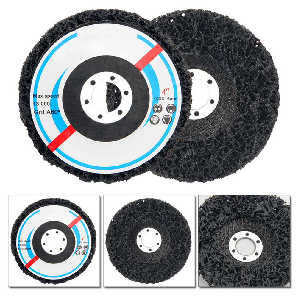 2pcs 100*16mm Poly Strip Disc Abrasive Wheel Paint Rust Removal Clean Angle Grinder Tools Cleaning Remover Discs Metalworking B4