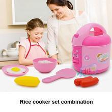 Мини-Игровой домик, игрушка, пластмассовая музыкальная кухня, электрическая умная рисоварка для детей, ролевые игры, игрушки, набор для мальчиков и девочек