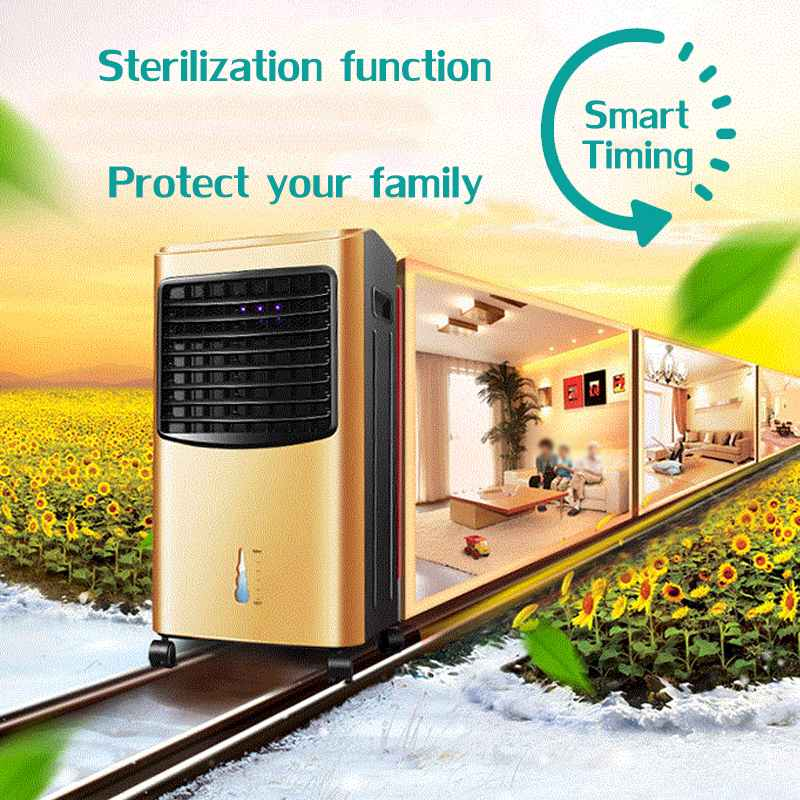 cheapest Mini Anion Air Conditioning Fan Desktop Cooler Office Refrigeration Mini Air Conditioner Cool Cooling Fan for Bedroom Home