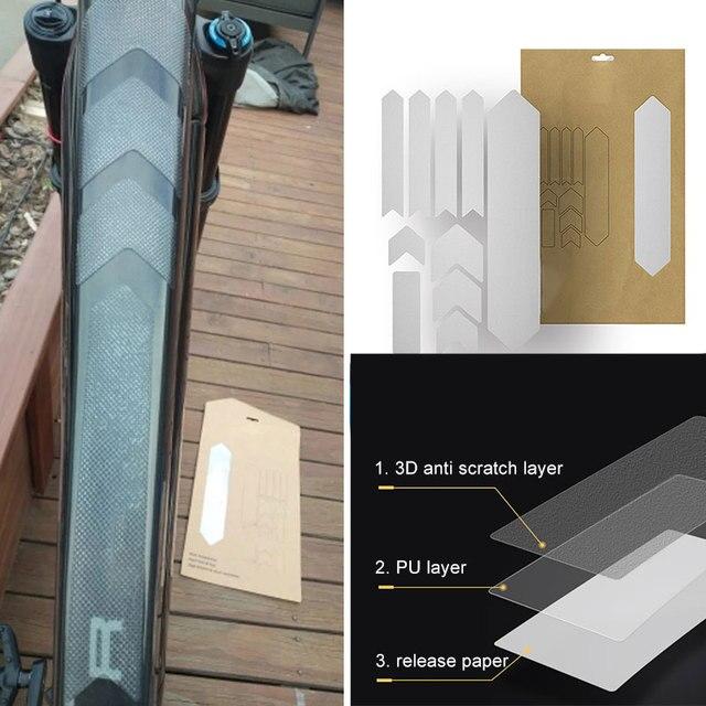 ROSELI Voiture de Bicyclette Film de Impermeable PVC Anti-Rayures Transparent VTT Velo de Cadre de Ensembles de Vitesse