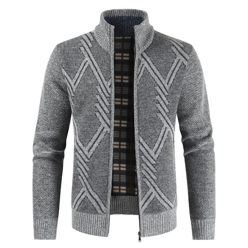 Мужская куртка с воротником-стойкой NEGIZBER, однотонная приталенная куртка из плотного флиса, повседневная куртка на молнии, Осень-зима 2019