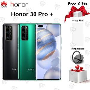 Оригинальный Honor 30 Pro + мобильный телефон 6,57 дюймов 8 ГБ ОЗУ 256 Гб ПЗУ Kirin 990 Восьмиядерный Android 10 50x цифровой зум 40MP 5G смартфон